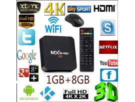 4K MXQ PRO Android Smart TV Box youtube, netflix 6.0 S905x Quad Core Full HD WiFi
